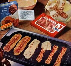 Baconated pancakes...yum!