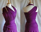 Convertible Dress, Infinity Dress, Wrap Dress, in Bright Purple