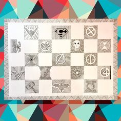 Inkart super hero logos doodle art