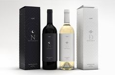 Nocturnalis & Durinalis: Concept Wine Packaging Design by Marcel Buerkle