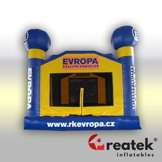 Custom made inflatable moonwalks, bouncy houses and advertising castles from Reatek Europe, with quick delivery. Bouncy House, Bouncy Castle, Inflatable Slide, Castles, Commercial, Chateaus, Castle, Palaces, Forts