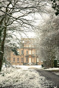 Manor House in the snow. Bristol, England