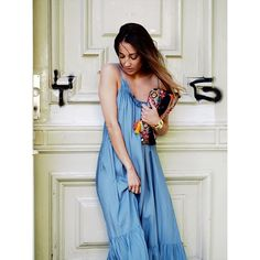 #boho #bohemian #chloe #ruffles #silk #maxidress #romantic #h&m #style #hippie #vacation #holidays #feminine #ootd #fashionblogger #helloshopping #berlin #summer #whowhatwear #vogue #instyle #effortless