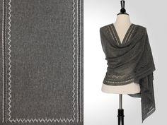 Steve Rousseau Designs • Ferris Rectangular Shawl • Knitting Pattern • Shibui Knits Pebble Tar