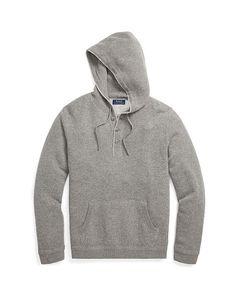 Merino Wool Henley Hoodie - Polo Ralph Lauren Sweatshirts - RalphLauren.com
