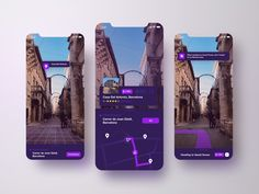 AR Travel App Concept by Hooman Hatefi on Dribbble Ios App Design, Mobile Ui Design, User Interface Design, Design Web, App Map, Mobile App Ui, Website Design Inspiration, Augmented Reality, Iphone