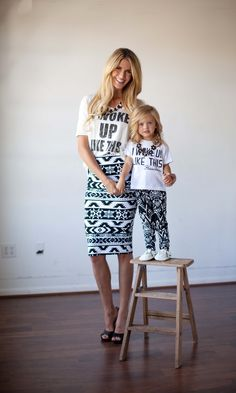 Mother and Daughter matching outfits and tees :)