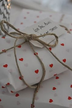 presents #hearts #wrapping