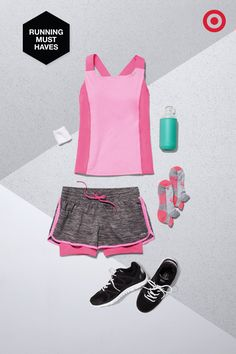 Who says pink can't be powerful? The C9 Champion Performance Tank, Layered Short and Heel Socks prove every step, stride and rep can be bold and bright in your bag.