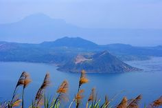 Taal volcano located within Taal lake, Taal Batangas, Philippines