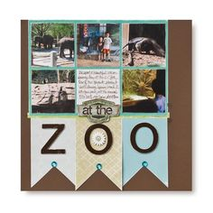 ZOO Distressing Scrapbooking Layout Idea from Creative Memories #scrapbooking    www.creativememor...