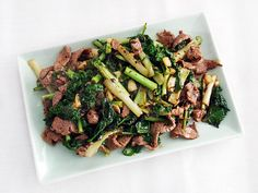 How to make Stir-Fried Beef with Kale and Frisée in Black Bean Sauce #recipe