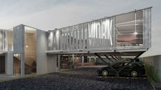 Container Office Building - Panama on Behance Container Office, Container Buildings, Behance, Architectural Firm, Architecture, Gallery, Blue Prints, Architecture Office, Arquitetura