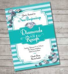 diamonds in the rough tiffany blue new by JoyfulPrintables on Etsy, $15.00