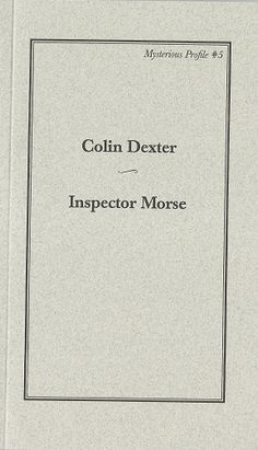 Abide With Me, Inspector Morse, The Endeavour, Piece Of Music, Dexter, Jewel, Memories, Memoirs, Souvenirs