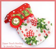 Jennifer Jangles Blog: Zipper Pouch Stocking
