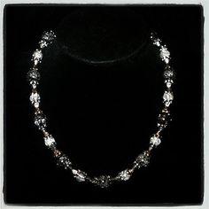 Black & White Cracked Bead Choker by AdamantArtistry
