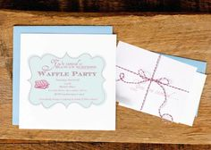 Free printables for a waffle party!