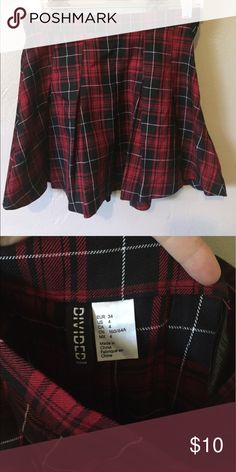 🎗BOGO SALE Red Plaid School Girl Skirt Red and black plaid schoolgirl skirt from H&M Divided Skirts Mini
