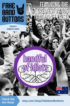 Garage Band Button, Featuring Handful Of Idiots Great Bands, Cool Bands, Band Names Ideas, Band Logo Design, Cool Kids Club, Tell The World, The Night Before, Band Logos, How To Know