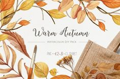 Warm Autumn. Watercolor DIY Pack - Illustrations