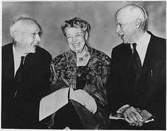Eleanor Roosevelt, Norman Thomas, and Alf Landon in New YorkCity