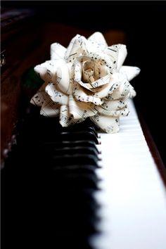 Sheet music roses