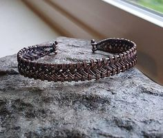 Check out this item in my Etsy shop https://www.etsy.com/listing/570441159/celtic-woven-copper-bracelet