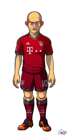 Robben FC Bayern Munich / Dortmund by Sakiroo Choi, via Behance
