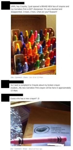 What are you? Roseart? I found this way funny! So true lol don't give me a crayon if it's not crayola!!  ;)