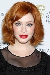 wavy bobs with bangs red - Google Search
