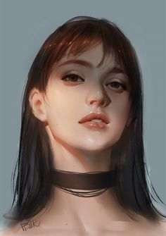 ArtStation - New work, Peter Xiao Female Portrait, Portrait Art, Female Art, Portraits, Digital Art Girl, Digital Portrait, Digital Painting Tutorials, Art Tutorials, Realistic Drawings