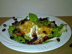 Agi Kuchnia Smaku: SMAŻONA MOZZARELLA Z SAŁATKĄ ZIMOWĄ  Fried mozzarella with winter cranberry salad