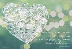 Love isn't a feeling . . .