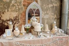 GORGEOUS first communion dessert table by louisa {little big company}