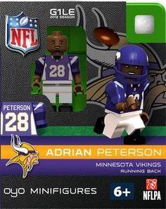 OYO Football NFL Building Brick Minifigure Adrian Peterson [Minnesota Vikings]