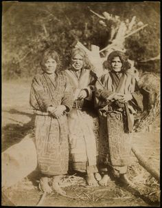 Ainu women on Sakhalin island, Russia