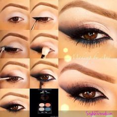 Have you always wanted to achieve that beautiful cat eye look with your eyeliner? If you're having a hard time, there are some easy cat eyes makeup tips you can try out. These tips will help you achieve the look every time in a matter of minutes. Love Makeup, Makeup Tips, Makeup Looks, Makeup Ideas, Makeup Tutorials, Eyeshadow Tutorials, Eyeliner Tutorial, Design Tutorials, Beauty Make-up