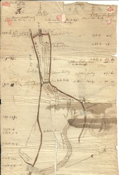 """Hand drawn map of Willimantic, CT  """"Thread City"""" c. 1830.  Pinned from the Facebook Group """"You Know You are From Willimantic if ...."""""""
