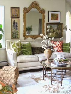 Rug, sofa, table, wall grouping, I love it all! classiccasualhome.com