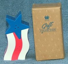 "#Avon Star Spangled Patriotic Salt & Pepper Shakers Set Free Shipping    New in the box from the Avon gift collection. A salute to the flag and nestled to together to make a appealing addition to your dinner or picnic table. This is a Avon discontinued item and the salt and pepper shakers are made of plastic. The star and stripes each measures 1-1/2"" tall. Thank you for viewing.  Price is 12.95"