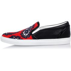 Dsquared2 Canvas Printed Slip On Sneakers ($235) ❤ liked on Polyvore featuring shoes, sneakers, multicolor, leopard print slip-on shoes, dsquared2 shoes, pull on sneakers, slip on sneakers and multi colored sneakers