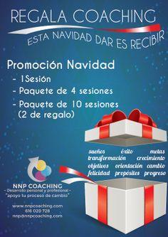 Promoción Navidad 2013 Nnpcoaching: Regala Coaching. Reserva ya tu tarjeta regalo de una sesión, o proceso de 4 o 10 sesiones. Regalarás ilusiones, motivación, cambios, actitud, proyectos. ESTA NAVIDAD DAR ES RECIBIR
