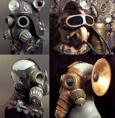 tom banwell gas masks  Very cool art!