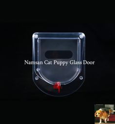Namsan Pet Glass Door, Glass Cat/Puppy Door, Suitable for Glass or Thin Door -Red *** More info could be found at the image url. (This is an affiliate link and I receive a commission for the sales) #PetDogs