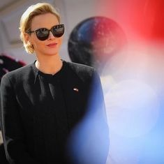 Akris® Official – #AkrisVIP - Celebrities wearing Akris Round Sunglasses, Mens Sunglasses, Charlene Of Monaco, Boat Neck Tops, Princess Charlene, French Actress, Female Actresses, Chinese Actress, Hollywood Walk Of Fame