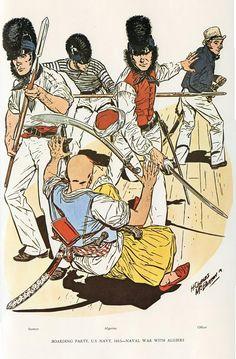 MINIATURAS MILITARES POR ALFONS CÀNOVAS: UNIFORMES de la Marina de los EE.UU.. Por el gran dibujante norteamericano H.Charles McBarron.
