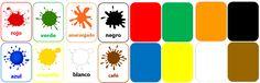 Set 16 tarjetas pareo de colores $3.500