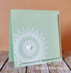 Made With Sparkle: Muse 101 Cool Cards, Stampin Up Cards, Doilies, Wedding Anniversary, Creative Design, Wedding Cards, Card Ideas, Card Making, Sparkle