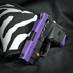 Smith & Wesson M&P Bodyguard done in custom purple Smith & Wesson Bodyguard, Smith N Wesson, Purple Gun, M&p 9mm, 357 Magnum, Weapons Guns, Country Farm, Girls Be Like, Shotgun